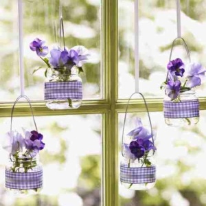 Baby Food Jar Hanging Vases